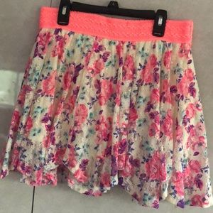 Justice Cute Floral Skirt Size 16